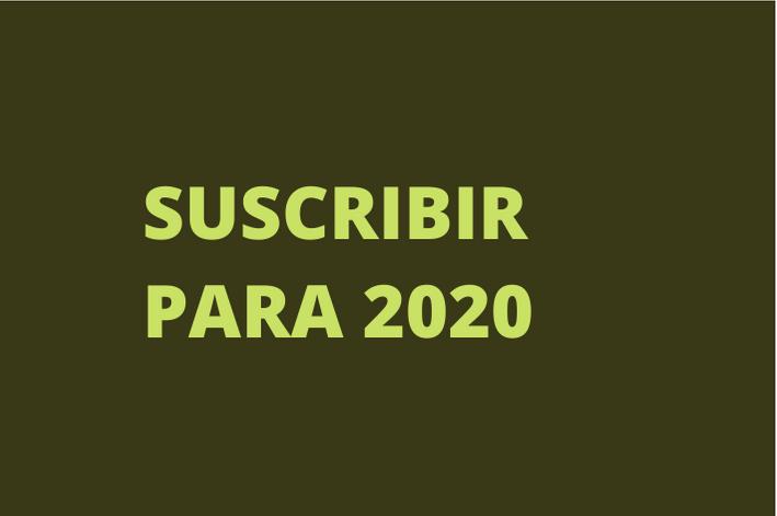 REGÍSTRESE PARA 2020